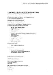 PROTOKOLL ZUR PREISGERICHTSSITZUNG - D&K drost consult