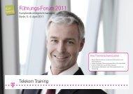 Führungs-Forum 2011 - Deutsche Telekom Training GmbH - Telekom