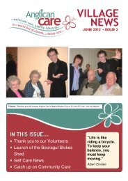 june 2012 • issue 2 - Anglican Care