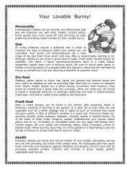 Your Lovable Bunny - black/white copy - Pet Rabbit World