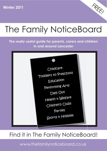 Winter 2011 - The Family NoticeBoard
