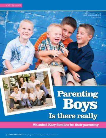 Parenting Boys - Katy Magazine