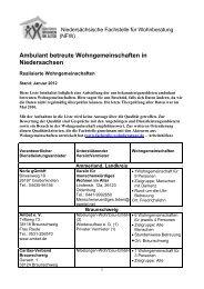 Ambulant betreute Wohngemeinschaften in Niedersachsen