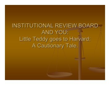 Institutional Review Board and Research Ethics - Park University