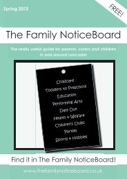 Spring 2012 - The Family NoticeBoard
