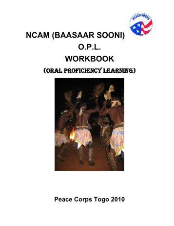 NCAM (BAASAAR SOONI) O.P.L. WORKBOOK - Peace Corps in Togo