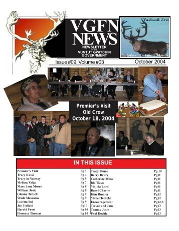 VGFN NEWS - Government of the Vuntut Gwitchin First Nation