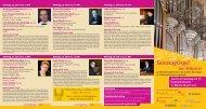Jeweils am Samstag um 72 bei freiem Eintritt 12. Mai bis 28. Juli 2012