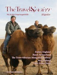 Volume 30, No.6 – July / August 2012 - The Travel Society