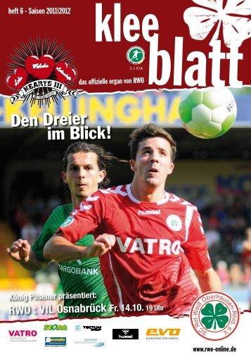 Heft 6 – Saison 2011 - SC Rot-Weiß Oberhausen eV