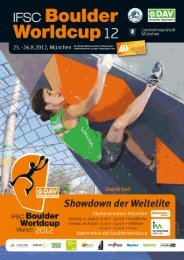 IFSC Boulder World Cup Final 2012 Munich (GER)