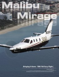 Bringing It Home - TBM 700 Ferry Flight - Malibu Mirage Owners and ...
