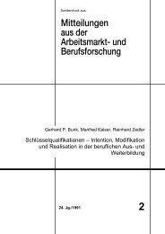 Intention, Modifikation und Realisation in der beruflichen Aus - IAB