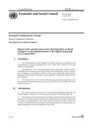 Economic and Social Council - UNECE