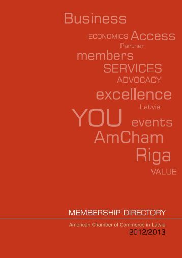 MeMbership Directory - American Chamber of Commerce in Latvia