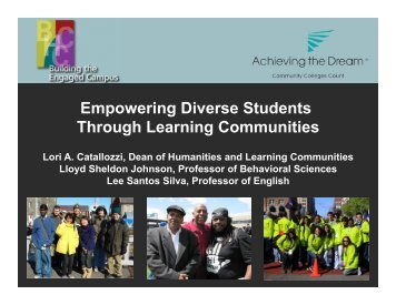 Bunker Hill Community College Learning Communities for Diverse ...