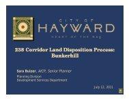 238 Corridor Land Disposition Process: Bunkerhill - City of HAYWARD