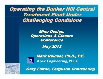 Operating the Bunker Hill Central Treatment Plant Under ...