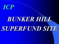 ICP at Bunker Hill - US Environmental Protection Agency