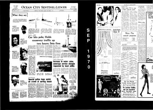 Sep 1970 On Line Newspaper Archives Of Ocean City