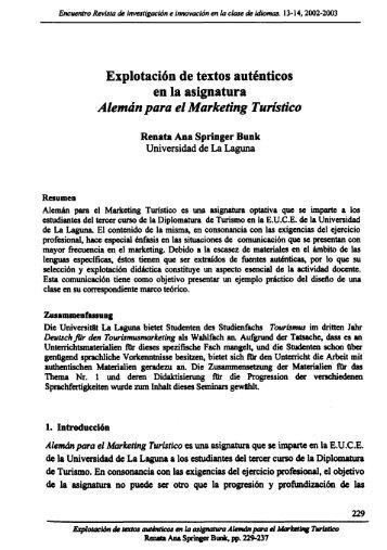 Explotación de Textos Auténticos en la Asignatura ... - Encuentro