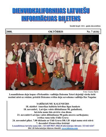 2008. OKTŌBRIS Nr. 7 (616) - Calbs.com