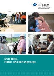 Erste Hilfe, Flucht- und Rettungswege