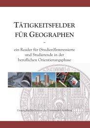 tätigkeitsfelder für geographen - Geographisches Institut Uni ...