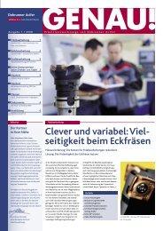 GENAU! Präzisionswerkzeuge Ausgabe 1/2008 ... - Debrunner Acifer