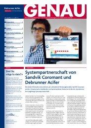 GENAU! Präzisionswerkzeuge Ausgabe 2/2011 ... - Debrunner Acifer