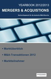 M&A -Yearbook 2012/2013 2