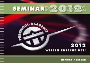 Precitool Seminarprogramm 2012