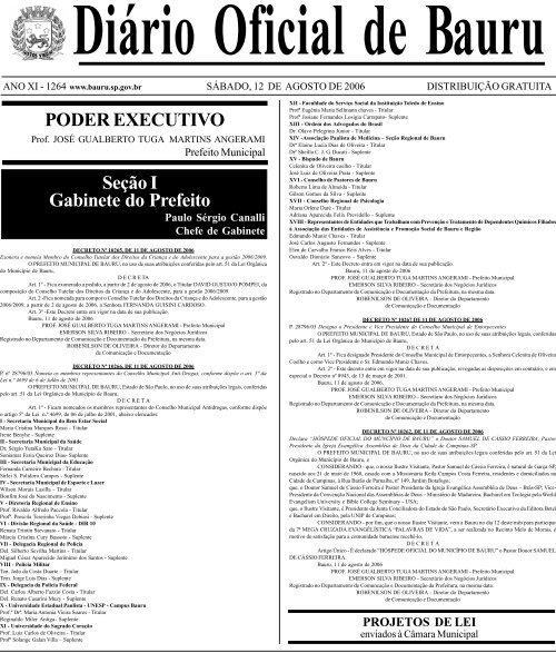 4844cc89e PODER EXECUTIVO Seção I Gabinete do Prefeito - Prefeitura .