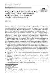 Wolfgang Breuer/Thilo Schweizer/Claudia Breuer (Hrsg.): Gabler ...