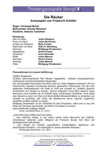 Die Räuber - Theatergastspiele Kempf GmbH