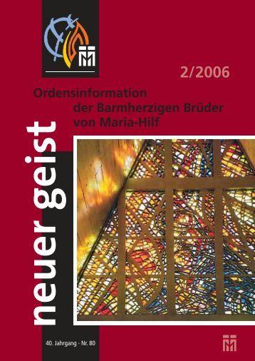 Ausgabe 2/2006 - Barmherzige Brüder von Maria-Hilf