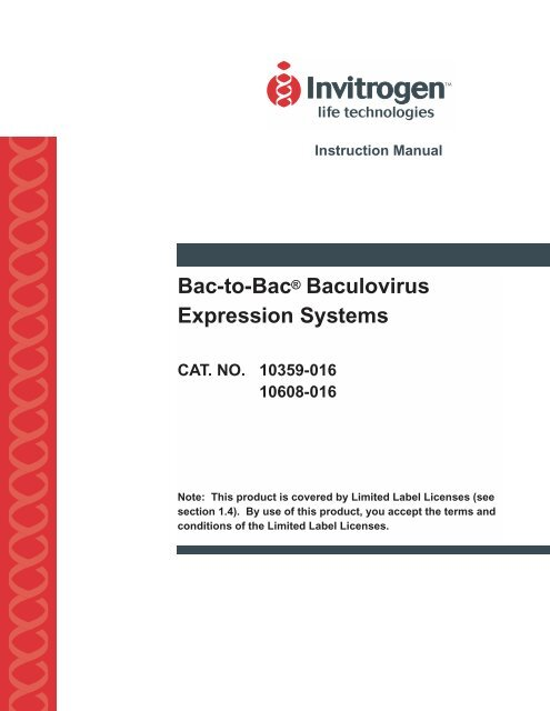 Bac-to-Bac® Baculovirus Expression Systems - The Wolfson