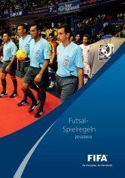 Spielregeln Futsal 2012-13.indd - FIFA.com