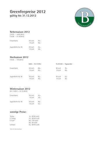 Nebensaison 2012 - Golfclub Budersand