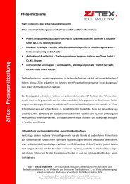 ZiTex - Pressem itteilung