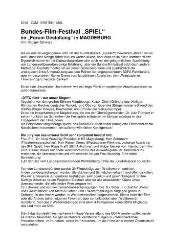 "Bundes-Film-Festival ""SPIEL"" - BDFA"