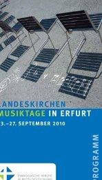 Programmheft LKMT US 3 - Kirchenmusik in der Evangelischen ...