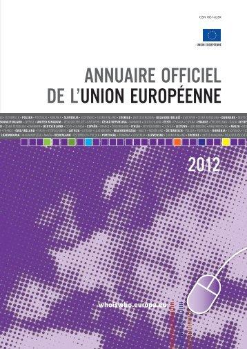 annuaire officiel de l'union européenne - EU Bookshop - Europa