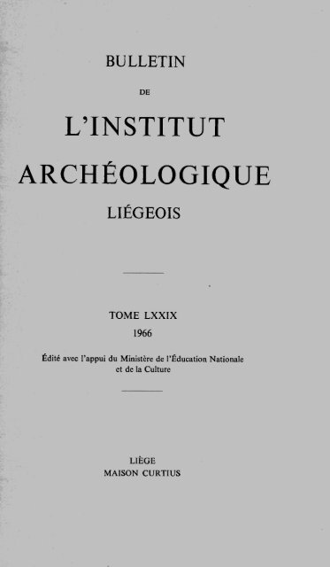 Acceder A L Article Institut Archeologique Liegeois