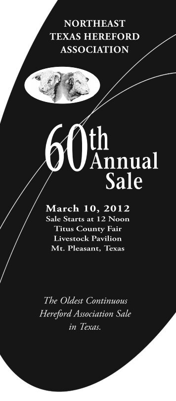 60Th AnnuAl SAle - American Hereford Association
