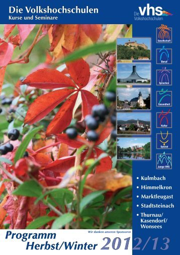 Programm Herbst/Winter 2012/13 Programm Herbst/Winter 2012/13