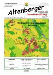 Örtliches Entwicklungskonzept - Änderung - Altenberg