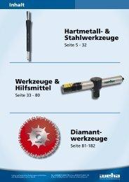 Diamant- werkzeuge Hartmetall- & Stahlwerkzeuge Werkzeuge ...
