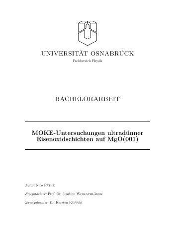 MOKE-Untersuchungen ultradünner Eisenoxidschichten auf MgO(001)