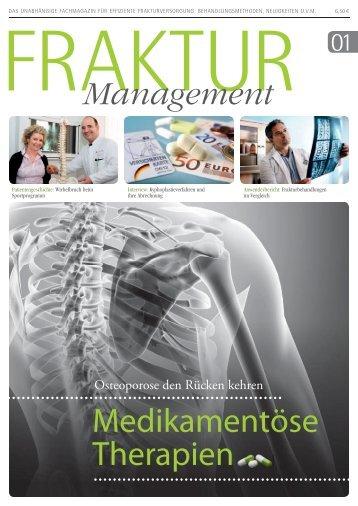 Medikamentöse Therapien - Startseite - Fraktur Management